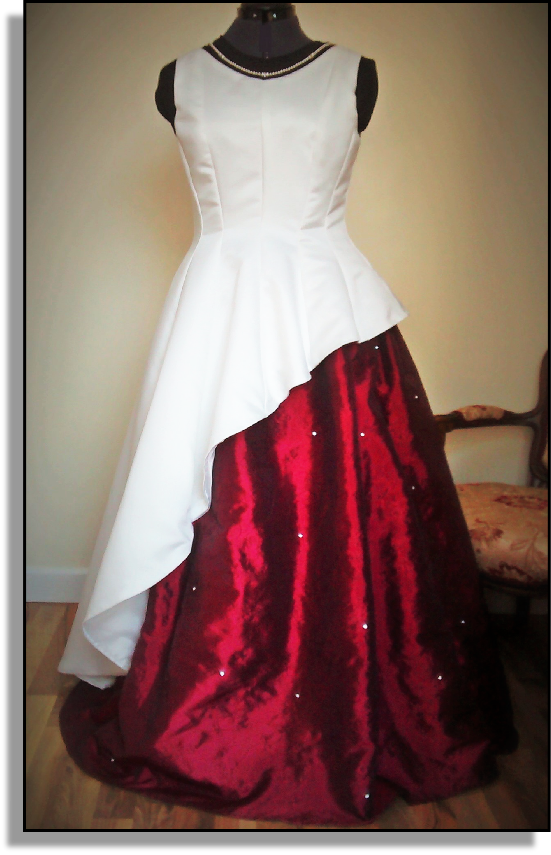 Wedding Gown (Ivory & Ruby with Diamantes)